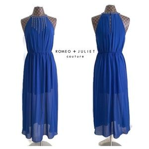 AS IS Romeo + Juliet Couture Blue Maxi Dress